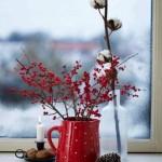 aranjament decorativ de craciun pentru fereastra