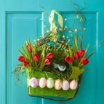 aranjament decorativ handmade de paste pentru usa