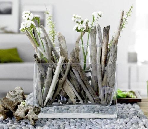 aranjament floral bete lemn