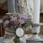 aranjament floral sticla