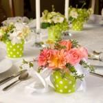 Aranjamente florale pentru nunta, facute in casa