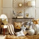 asortare elemente decorative argintii si aurii