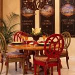 asortare scaune doua culori loc de luat masa