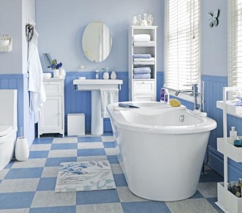 baie alb albastru