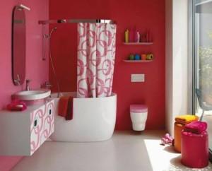 baie culoare rosu