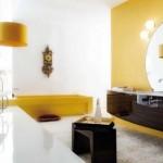 baie decorata galben