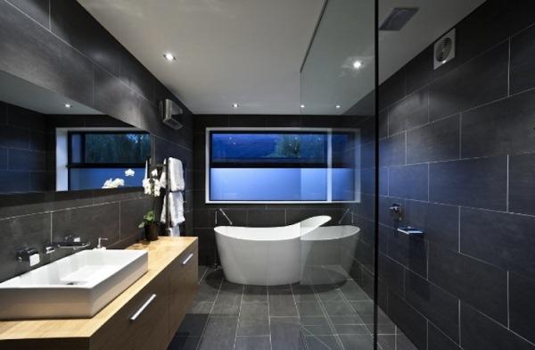 baie decorata negru