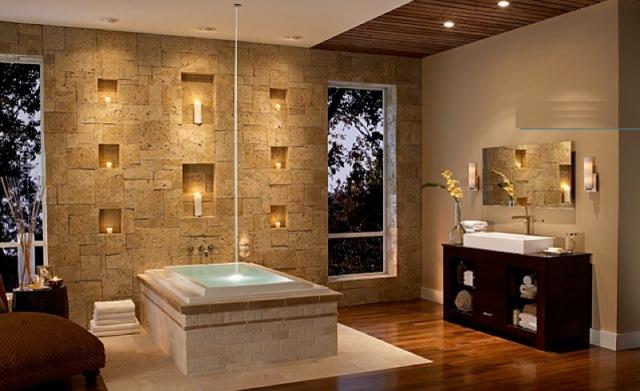 baie decorata piatra naturala