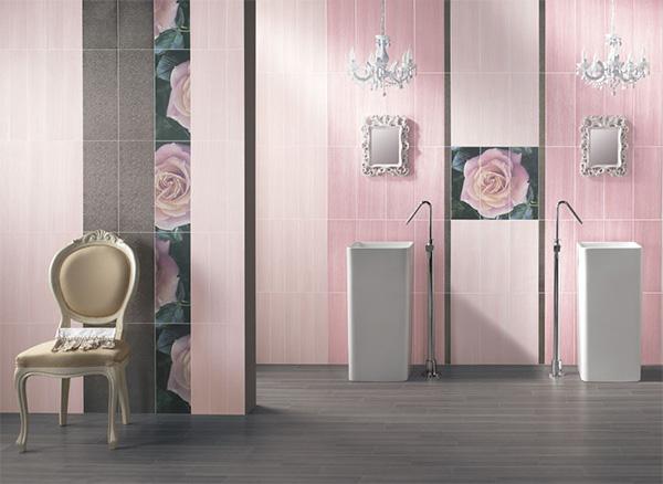 baie decorata roz