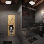 Apartamentul unui burlac, amenajat in stil industrial Loft cu accente vintage