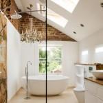 baie lux perete decorat caramida aparenta