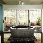 baie minimalista decorata piatra naturala