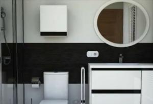 baie moderna alb negru