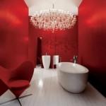 baie moderna culoare rosie cada stativ culoare alba tendinte 2014