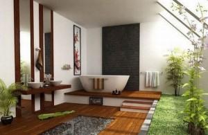 baie moderna finisaje lemn