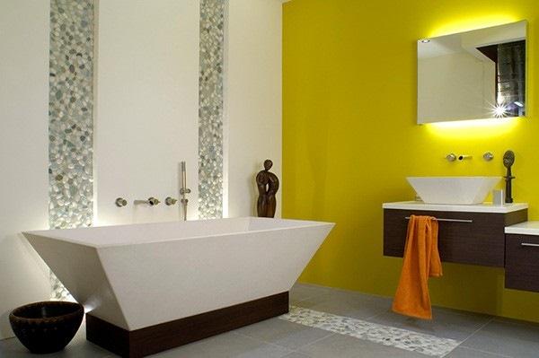 baie moderna galben neon