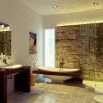 baie moderna placata piatra naturala