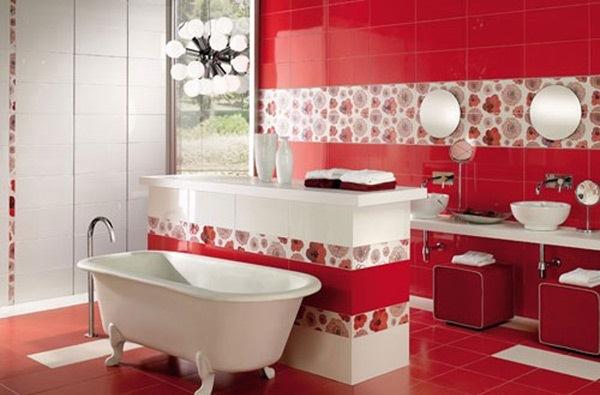 baie moderna rosie