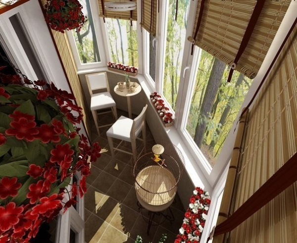 balcon mic amenajat