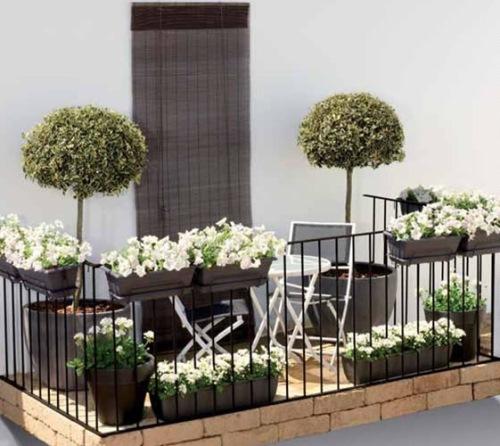 balcon mic cu flori