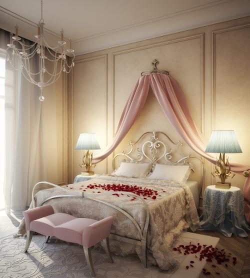baldachin pat dormitor