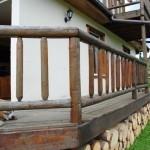 balustrada busteni lemn