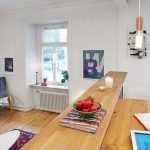 bar ce desparte bucataria de living apartament modern stil scandinav