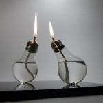 bec transformat in candela decorativa veche