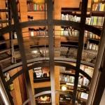 biblioteca interior cabana de lux rezervatie privata africa de sud