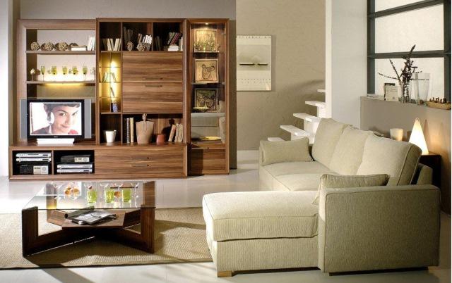 biblioteca moderna living