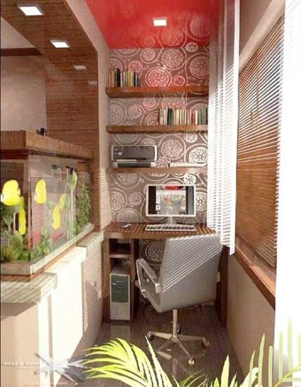 birou amenajat balcon mic