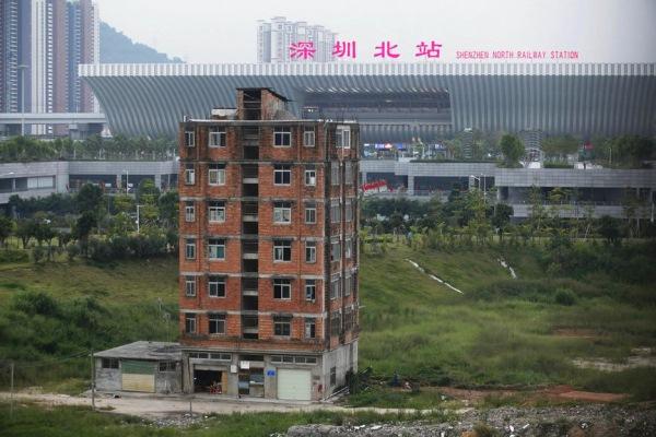 blocul de langa gara de trenuri Shenzhen China