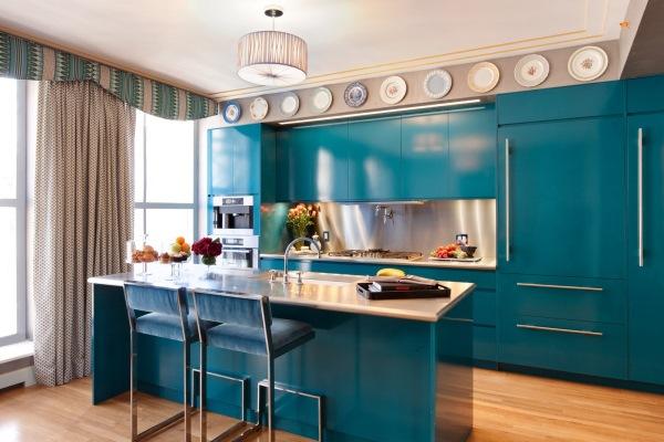 bucatarie albastra moderna