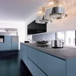 bucatarie de lux moderna culoare bleu