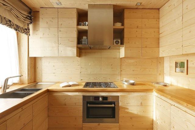 bucatarie design modern lemn masiv accente rustice
