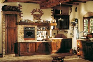 bucatarie italiana amenajata in stil rustic