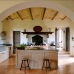 bucatarie italiana superba cu accente rustice