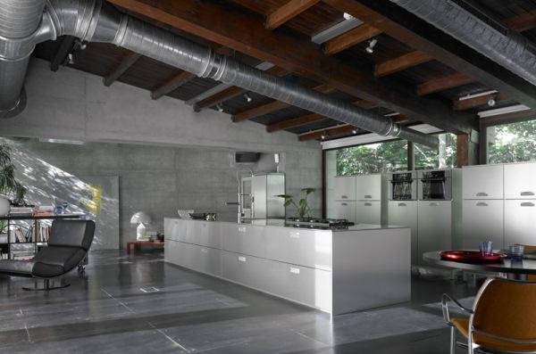 bucatarie loft moderna
