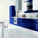 bucatarie moderna albastru