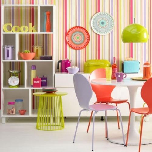 bucatarie moderna colorata