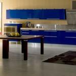 bucatarie moderna mobila albastru culoarea anului 2014
