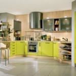 bucatarie moderna mobilier verde limeta
