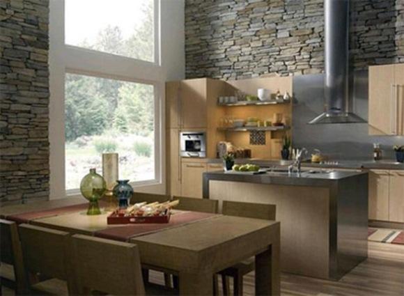 bucatarie moderne piatra decorativa