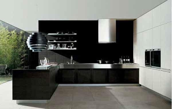 bucatarie neagra moderna