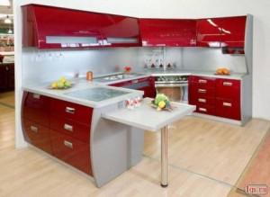 bucatarie rosu
