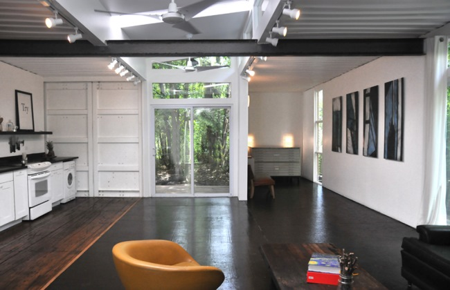 bucatarie si living open space casa ieftina containere maritime