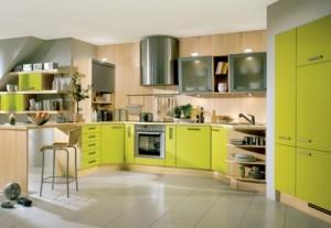 Bucatarii decorate in culoarea verde