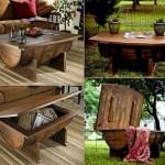 butoi lemn vechi transformat in masa rustica handmade