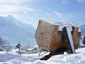 cabana lemn ufogel austria tirol iarna