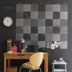 calendar perete vopsit cu vopsea decorativa cu efect de tabla de scris